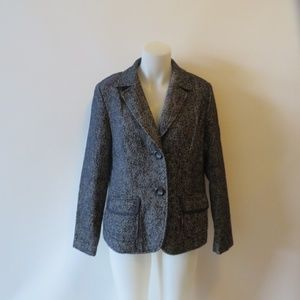 LAFAYETTE 148 BLUE AND WHITE DESIGN BLAZER SZ 10*